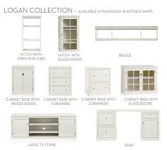 build your own logan modular components antique white pottery