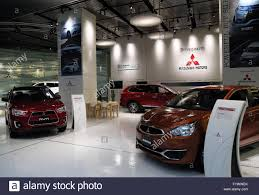 mitsubishi japan tokyo japan 27th apr 2016 vehicles are displayed at a showroom