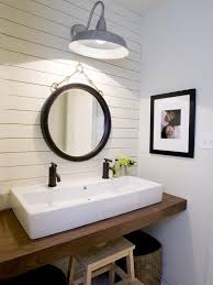 sink bathroom ideas white trough sink with beautiful mirror and lighting for farmhouse