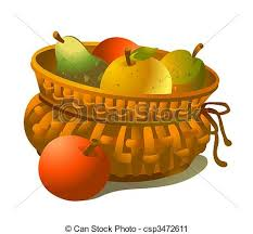 basket of fruits basket of fruits wicker basket of fruits isolated on