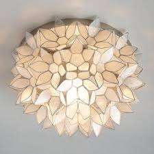 pottery barn ceiling lights pottery barn capiz floral flushmount look for less