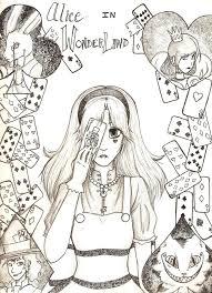 alice wonderland mess anime artist deviantart
