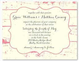 shabby chic wedding invitations on white seeded paper la grange
