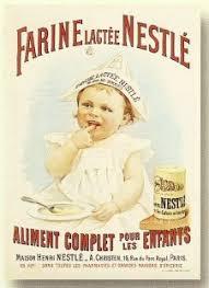 affiche cuisine retro affiche 50x70cm pub retro farine lactee pour bebe nestle amazon