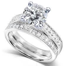 white gold wedding sets inspirational wedding rings for women white gold 14k set