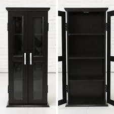 black cabinet with glass doors black storage cabinet 2 glass doors modern elegant wood media tower