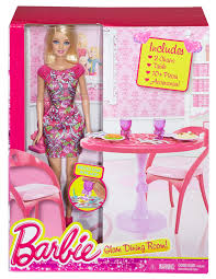 barbie dining room amazoncom mattel barbie doll and dining room gift set toys games