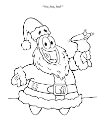 patrick santa coloring cartoon pages kidscoloringpage