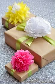 present tissue paper gift wrapping with tissue paper flowers tissue paper flowers