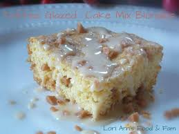 toffee glazed cake mix blondies duncan hines