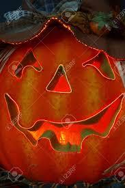 jack o lantern fiber optics lighted carved halloween pumpkin