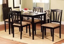 dining room furniture black 5pc dinette set modern wood table