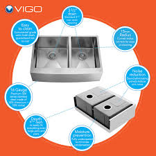 vigo vg15271 all in one 36 stainless steel double bowl kitchen
