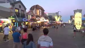 atlantic city beach and boardwalk scene nj new jersey shore