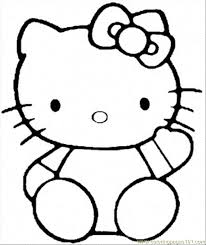 free kitty coloring pages coloring pages kids clip