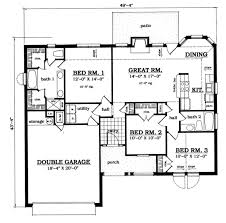 plan42 traditional style house plan 3 beds 2 00 baths 1278 sq ft plan
