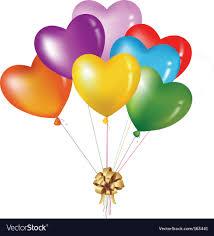 heart balloons heart balloons royalty free vector image vectorstock