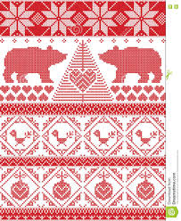 norwegian christmas and festive winter seamless pattern in cross