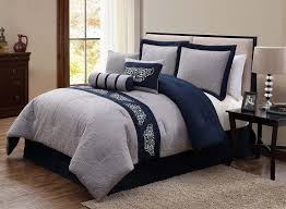 Gray Bed Set Navy And Gray Bedding Modern Bedding Bed Linen