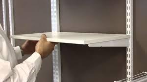 Closetmaid Shelftrack Hang Track Installing Wood Shelves Freedomrail Organizedliving Com Youtube