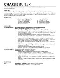 Talent Acquisition Resume Sample by Best Organizational Development Resume Example Livecareer