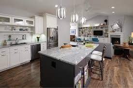 Kitchen Cabinets Contemporary Style Designer Merges Bungalow And Contemporary Styles For Something