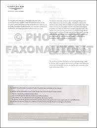 2005 chrysler data book original