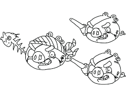 angry birds coloring pages space king pig printable kids red bird