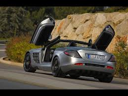 2009 mercedes benz slr mclaren roadster 722 s rear angle