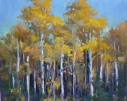 a tip for painting autumn aspen trees