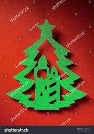 christmas tree paper cutting design papercraft stock photo