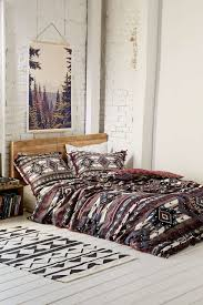 bedroom urban outfitters bedding black and white fence dining