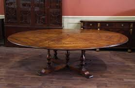 Table With Slide Out Leaves Extra Large Round Country Table With Leaves Seats 10 12 People