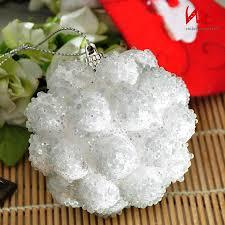 decoration sweet snowball ornament grey steel