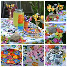 luau theme party hawaiian themed luau cookout courtesy of trading company