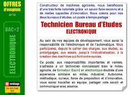 fiche de poste technicien bureau d 騁udes onisep fr equipeseducatives mars ppt télécharger