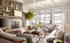 lake home interiors lake house living room decorating ideas modern house