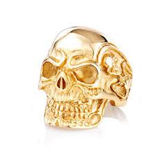 gold skull rings images Men skull ring zapps clothing jpg