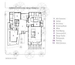 Ground Floor Plan Gallery Of Lunder Arts Center Bruner Cott U0026 Associates 13