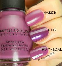 sinful colors hazed compared to sinful colors fig mythical be