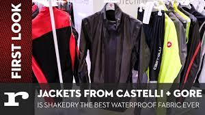 best waterproof bike jacket new shakedry waterproof jackets from gore and castelli youtube