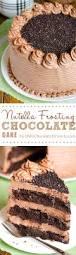 decadent nutella chocolate cake omgchocolatedesserts com