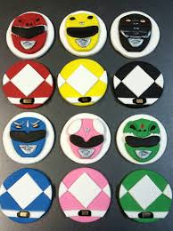 power rangers cake toppers 6 fondant mighty morphin inspired power rangers cupcake topper by