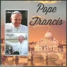 pope francis souvenirs liberia 2014 pope francis souvenir sheet part ii mint nh ebay