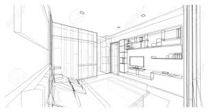 bedroom sketch perspective interior bedroom watercolor paper
