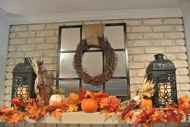 decorate a mantel for fall