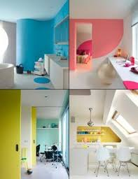 Colorful Interior Design Colorful Interior Design Color Block Carpet Wall Decal