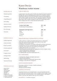 warehouse worker resume example http www resumecareer info