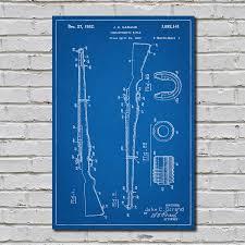 m1 garand blueprint gun patent prints touch of modern