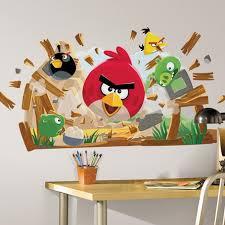 Angry Birds Wall Murals In Kids Bedroom Designs Ideas Combo - Childrens bedroom wall designs